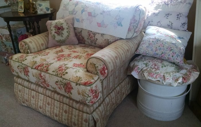 New comfy chair | Vintage Floral Cottage
