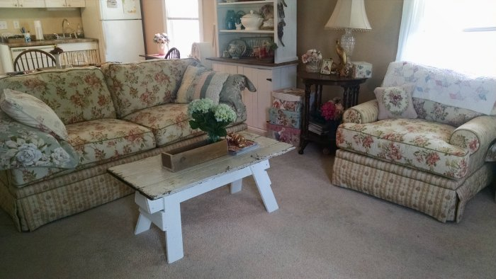 New couch and Chair | Vintage Floral Cottage