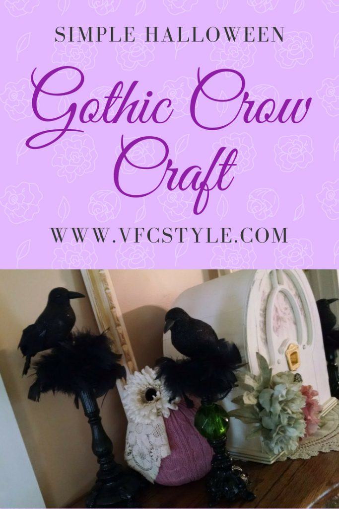 Simple Easy Halloween Craft making gothic crows