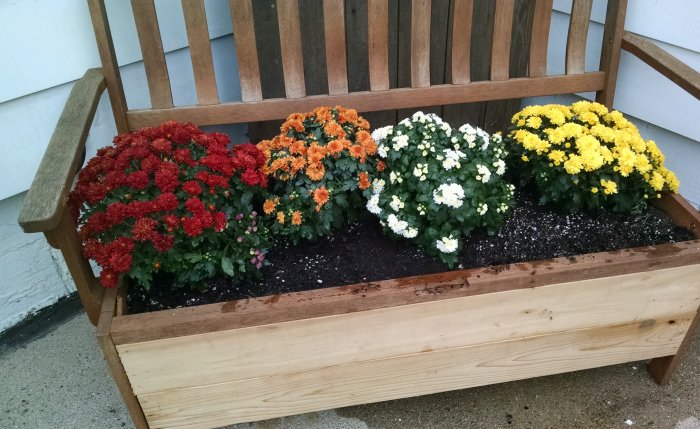 Bench Planter | Vintage Floral Cottage