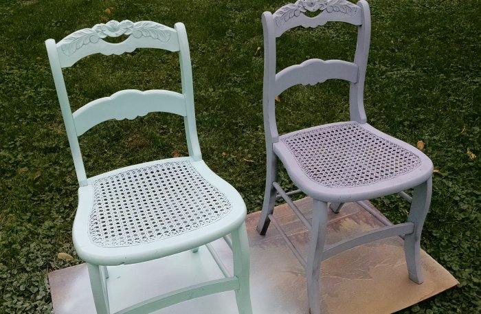Storybook upcycled chairs | Vintage Floral Cottage