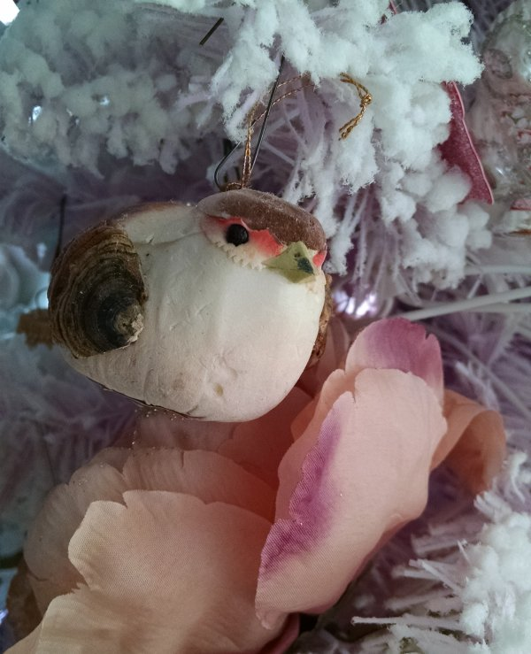 Critters on the Christmas tree | Vintage Floral Cottage