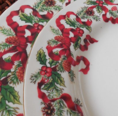 Christmas Ribbon china | Vintage Floral Cottage