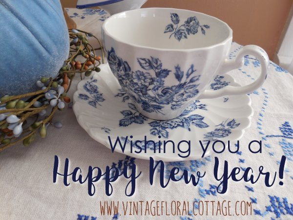 Happy New Year | Vintage Floral Cottage
