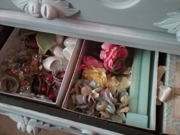 Three drawer chest | Vintage Floral Cottage