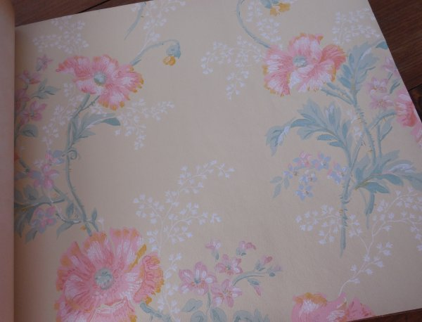 Wallpaper sample book | Vintage Floral Cottage