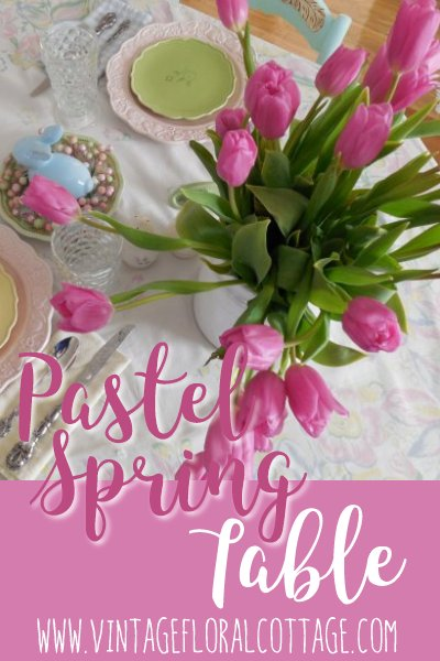 Pastel Spring Table | Vintage Floral Cottage