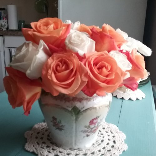 Dreamsicle Roses | Vintage Floral Cottage