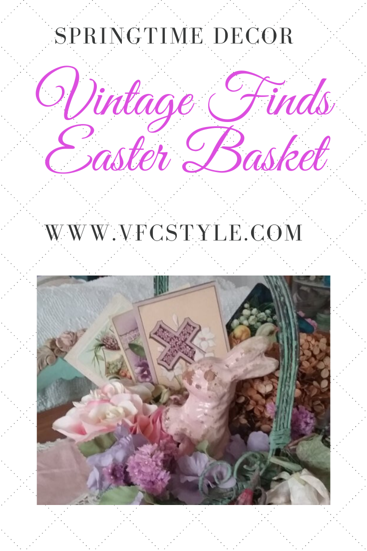 Vintage Finds Easter Basket | Vintage Floral Cottage