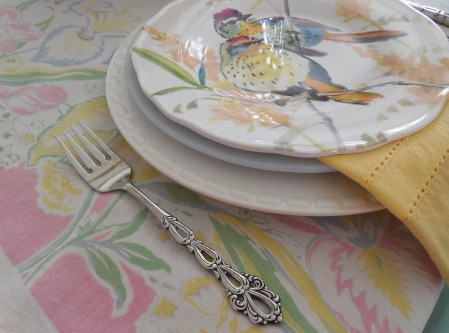 Place Setting | Vintage Floral Cottage