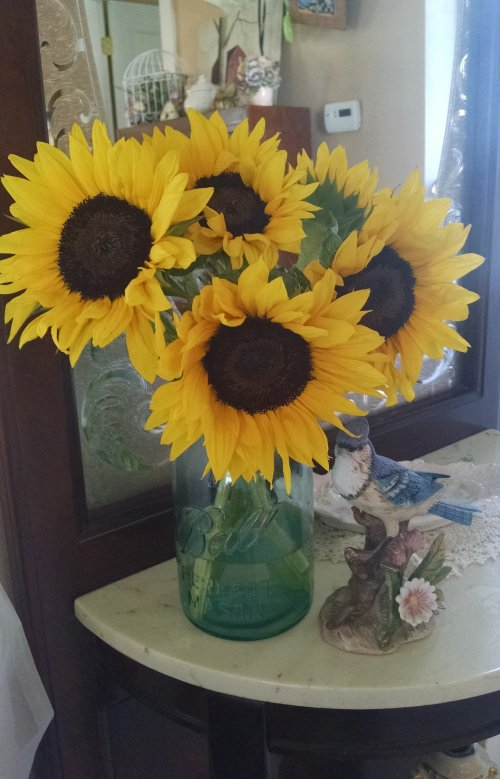 Real Sunflowers | Vintage Floral Cottage