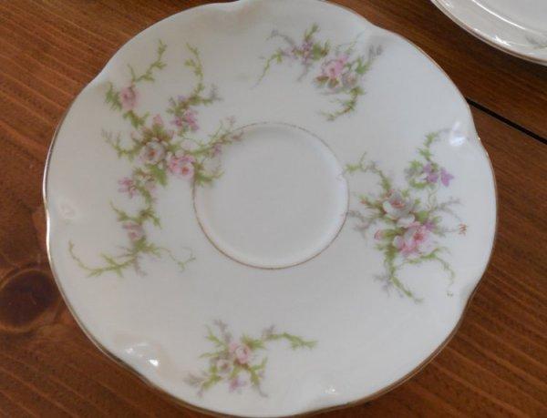 Haviland Rosalinde saucers | Vintage Floral Cottage