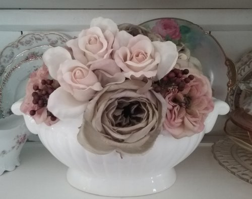Silk Flower Arrangement | Vintage Floral Cottage