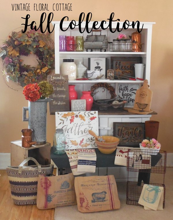 Vintage Floral Cottage Fall Collection