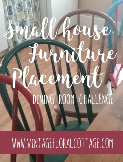 Small house furniture placement | Vintage Floral Cottage