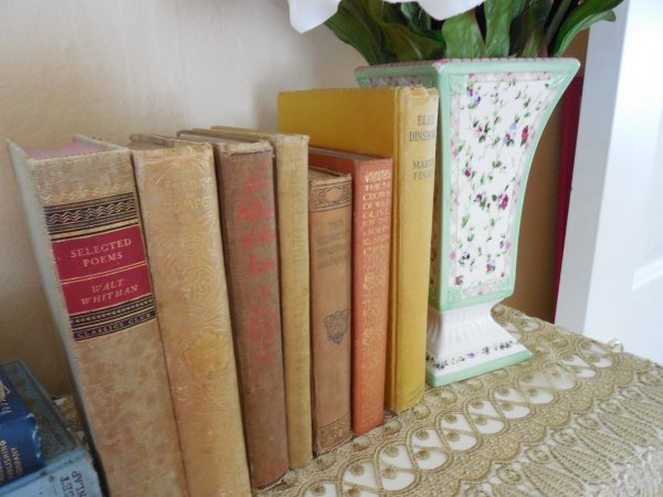 Bookcase top shelf | Vintage Floral Cottage