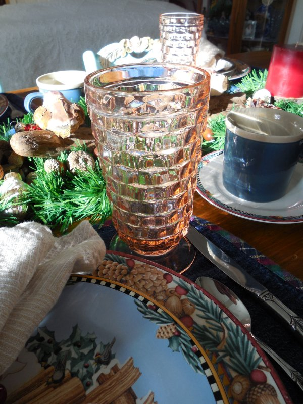 Debbie Mumm Woodland Santa Tablescape | Vintage Floral Cottage