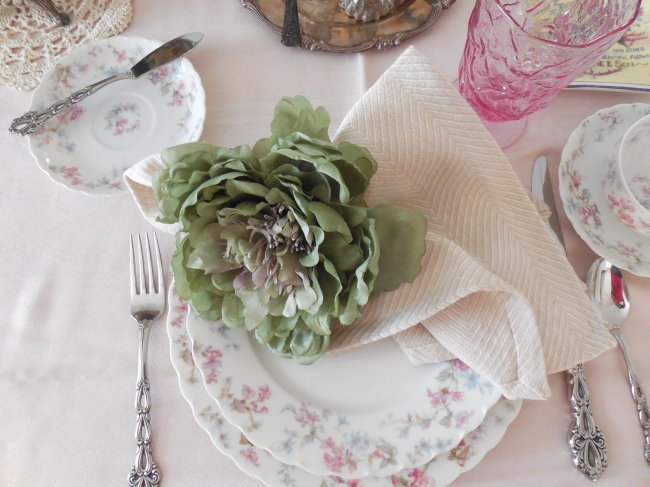 Faded Summer Early Fall Table with Limoges | Vintage Floral Cottage