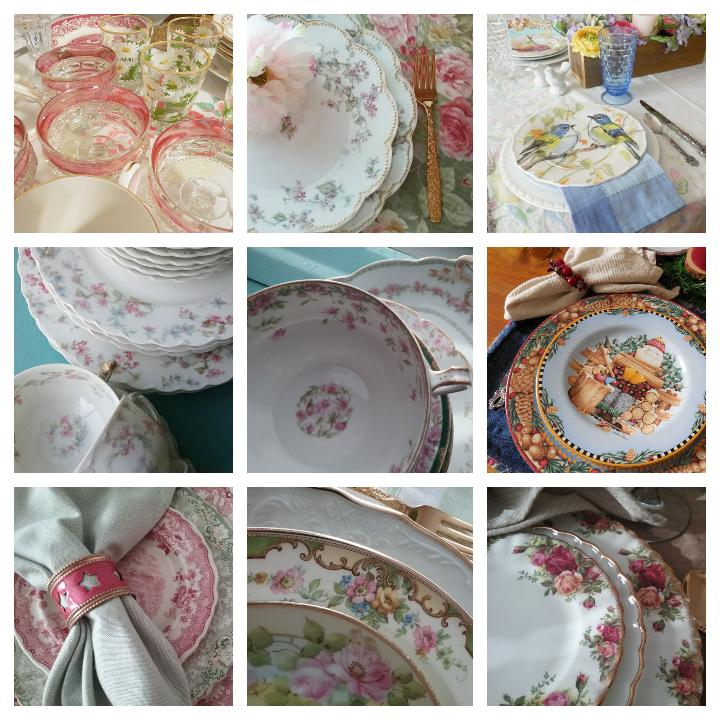 Top 9 Instagram photos - dishes | Vintage Floral Cottage