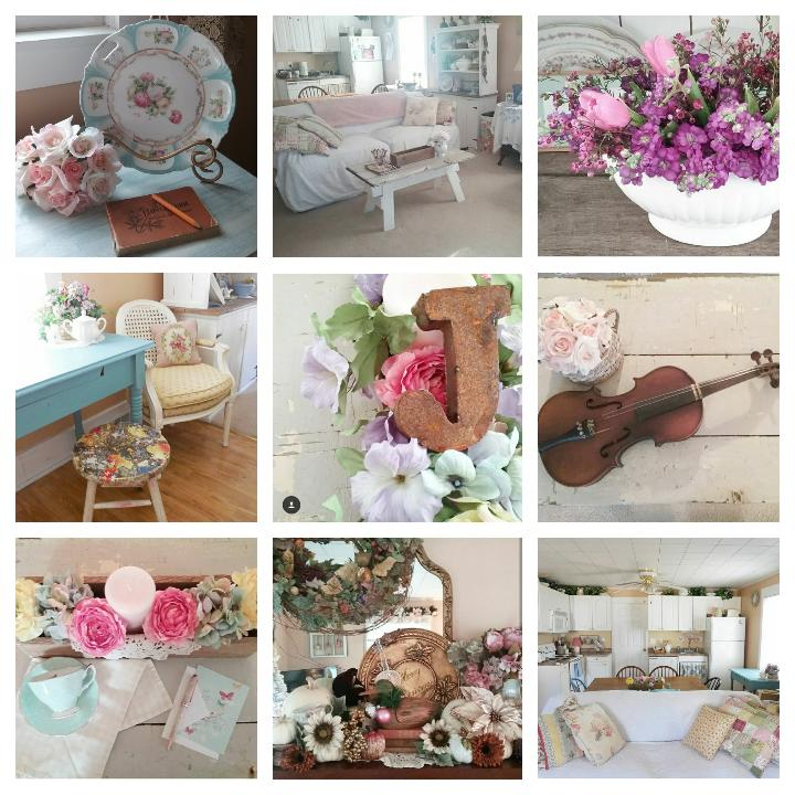 Top 9 Instagram photos - Home decorating style | Vintage Floral Cottage