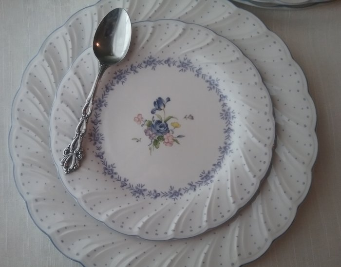 Nikko Blue Peony dishes | Vintage Floral Cottage