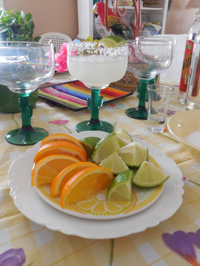 Margarita day tablescape | Vintage Floral Cottage