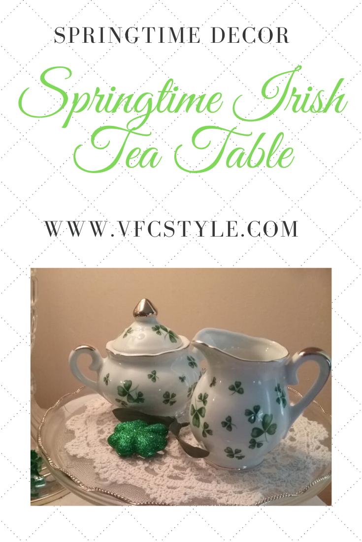 Spring Time Irish Tea Table | Vintage Floral Cottage