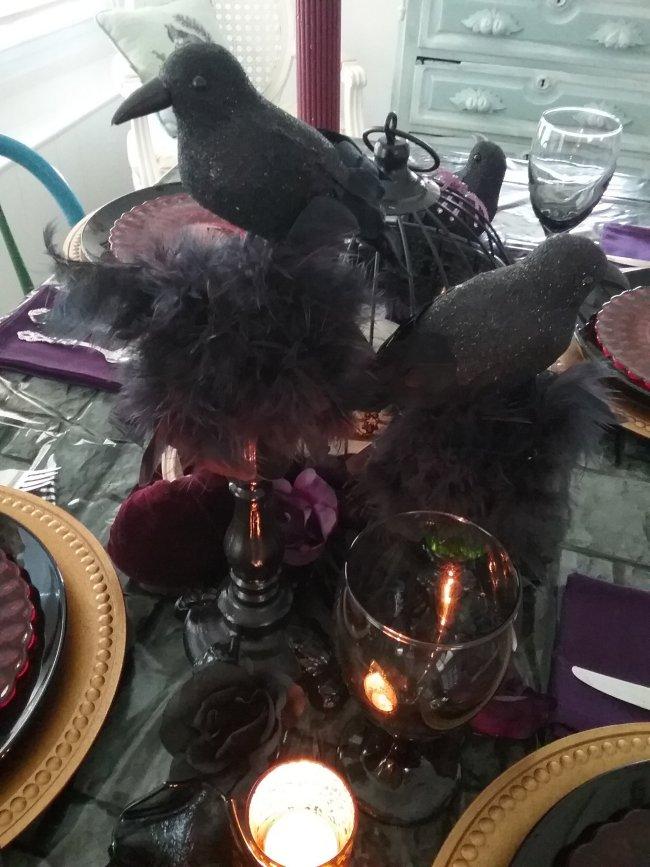 Spooky Gothic Halloween 2019 Tablescape | Vintage Floral Cottage