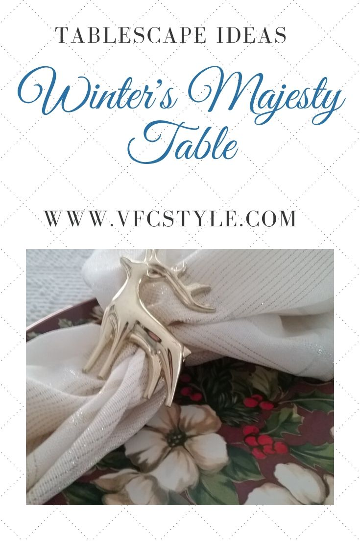 Winters Majesty Table | Vintage Floral Cottage