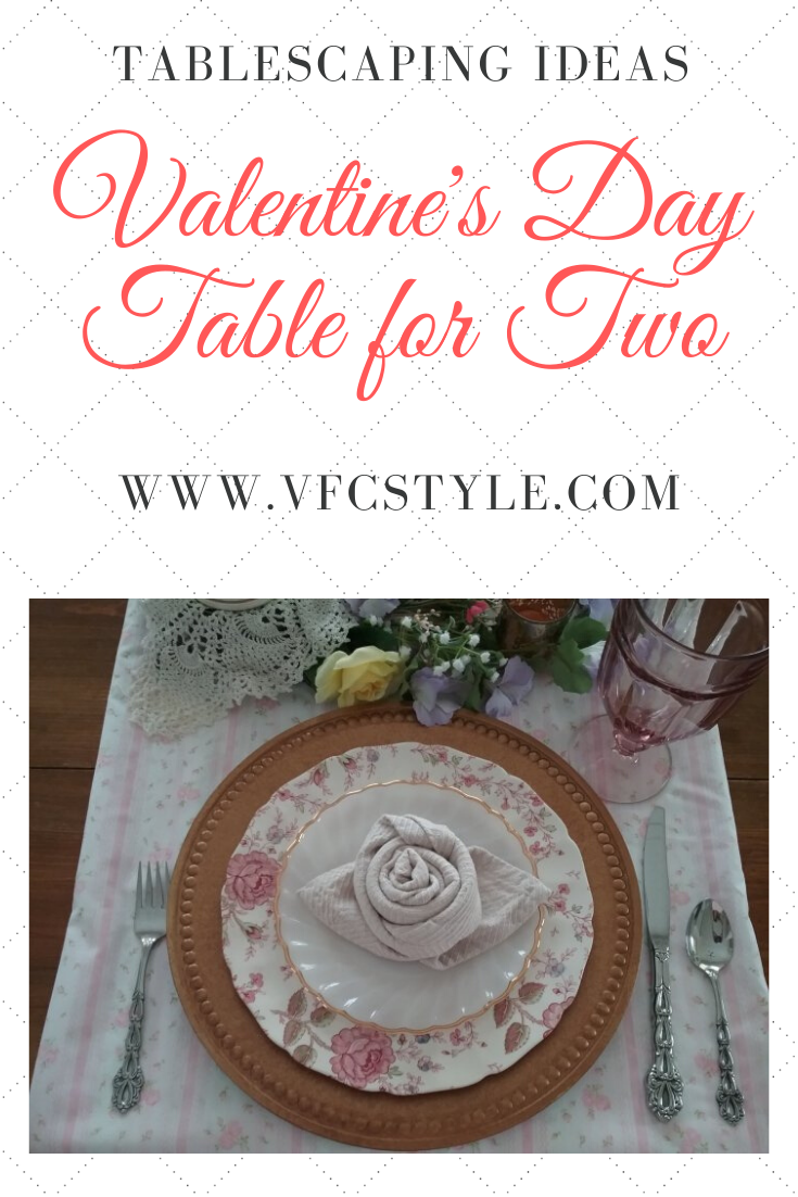 Valentine's Day table for two | Vintage Floral Cottage