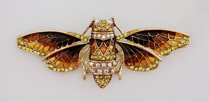 Cicada brooch pin from Amazon | Vintage Floral Cottage
