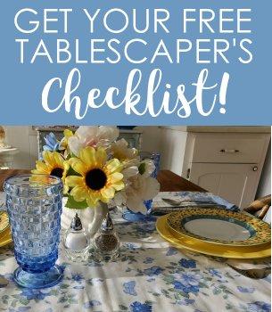 Free Tablescaper's Checklist