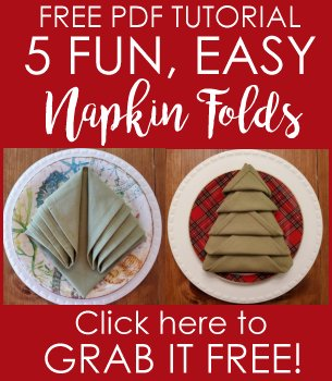 Napkin Folds PDF Tutorial | Vintage Floral Cottage