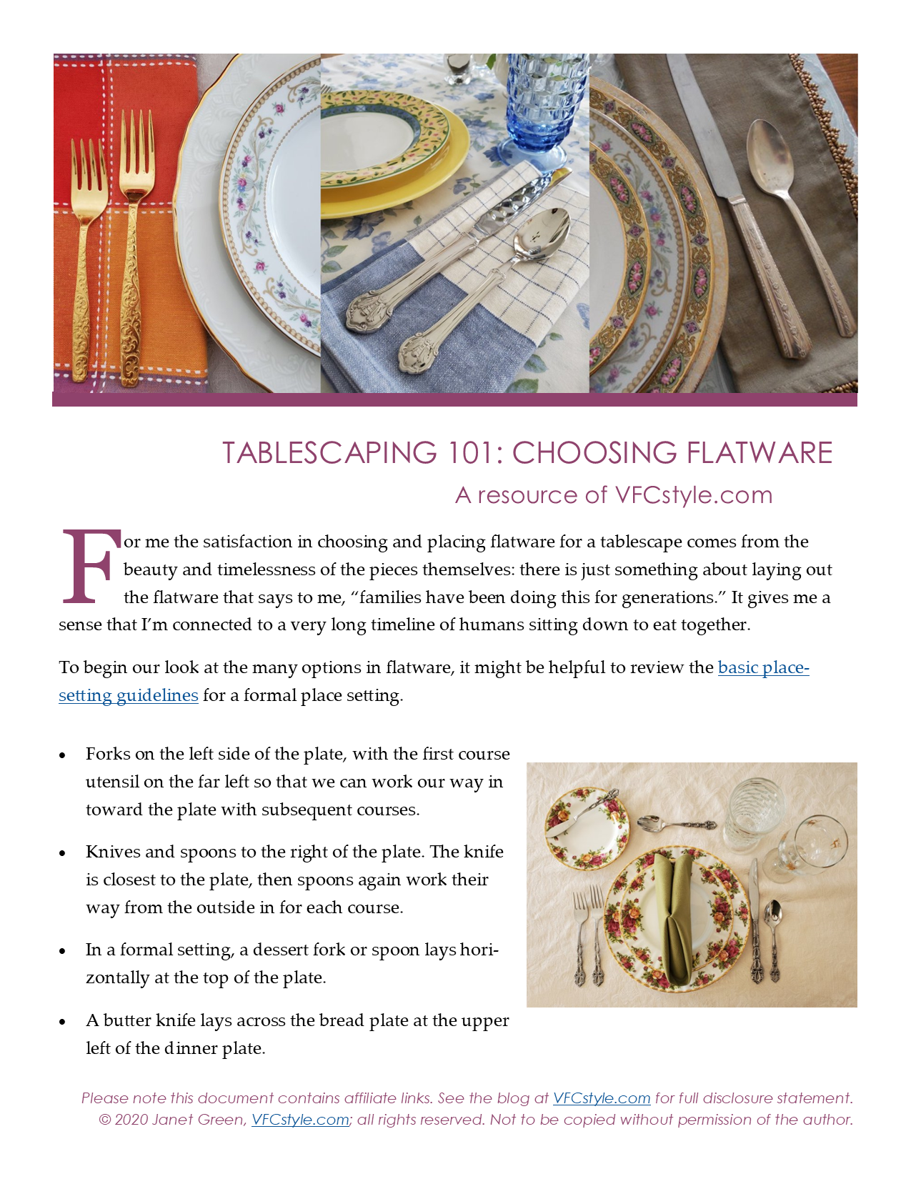 Choose Flatware for Your Tablescape